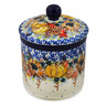5-inch Stoneware Jar with Lid - Polmedia Polish Pottery H8172J
