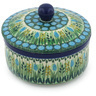 5-inch Stoneware Jar with Lid - Polmedia Polish Pottery H8346G