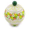 5-inch Stoneware Jar with Lid - Polmedia Polish Pottery H8376I