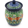 5-inch Stoneware Jar with Lid - Polmedia Polish Pottery H8715G