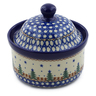 5-inch Stoneware Jar with Lid - Polmedia Polish Pottery H8865A
