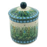 5-inch Stoneware Jar with Lid - Polmedia Polish Pottery H9313G