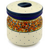 5-inch Stoneware Jar with Lid - Polmedia Polish Pottery H9790C