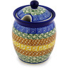 5-inch Stoneware Jar with Lid with Opening - Polmedia Polish Pottery H0688D