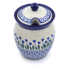 5-inch Stoneware Jar with Lid with Opening - Polmedia Polish Pottery H1209J