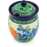 5-inch Stoneware Jar with Lid with Opening - Polmedia Polish Pottery H3189G