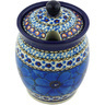 5-inch Stoneware Jar with Lid with Opening - Polmedia Polish Pottery H4342G