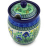 5-inch Stoneware Jar with Lid with Opening - Polmedia Polish Pottery H4729G