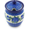5-inch Stoneware Jar with Lid with Opening - Polmedia Polish Pottery H5674G