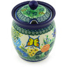 5-inch Stoneware Jar with Lid with Opening - Polmedia Polish Pottery H5984G
