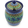 5-inch Stoneware Jar with Lid with Opening - Polmedia Polish Pottery H6481G