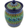 5-inch Stoneware Jar with Lid with Opening - Polmedia Polish Pottery H6498G