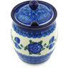 5-inch Stoneware Jar with Lid with Opening - Polmedia Polish Pottery H6703G