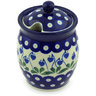 5-inch Stoneware Jar with Lid with Opening - Polmedia Polish Pottery H6767G