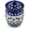 5-inch Stoneware Jar with Lid with Opening - Polmedia Polish Pottery H6988G