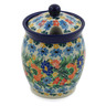 5-inch Stoneware Jar with Lid with Opening - Polmedia Polish Pottery H8448J