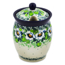 5-inch Stoneware Jar with Lid with Opening - Polmedia Polish Pottery H8451J