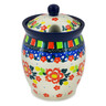 5-inch Stoneware Jar with Lid with Opening - Polmedia Polish Pottery H8452J