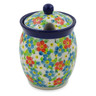 5-inch Stoneware Jar with Lid with Opening - Polmedia Polish Pottery H8454J