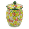 5-inch Stoneware Jar with Lid with Opening - Polmedia Polish Pottery H8455J