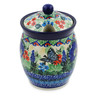 5-inch Stoneware Jar with Lid with Opening - Polmedia Polish Pottery H8460J