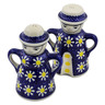 5-inch Stoneware Salt and Pepper Set - Polmedia Polish Pottery H2833K