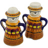 5-inch Stoneware Salt and Pepper Set - Polmedia Polish Pottery H2874K
