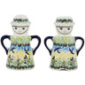 5-inch Stoneware Salt and Pepper Set - Polmedia Polish Pottery H3370F