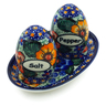 5-inch Stoneware Salt and Pepper Set - Polmedia Polish Pottery H5208J