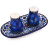 5-inch Stoneware Salt and Pepper Set - Polmedia Polish Pottery H6510G