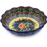 5-inch Stoneware Scalloped Fluted Bowl - Polmedia Polish Pottery H0761G