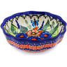 5-inch Stoneware Scalloped Fluted Bowl - Polmedia Polish Pottery H0910K