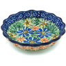 5-inch Stoneware Scalloped Fluted Bowl - Polmedia Polish Pottery H1328H