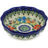 5-inch Stoneware Scalloped Fluted Bowl - Polmedia Polish Pottery H4095K