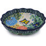 5-inch Stoneware Scalloped Fluted Bowl - Polmedia Polish Pottery H6167G