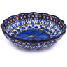 5-inch Stoneware Scalloped Fluted Bowl - Polmedia Polish Pottery H6303G