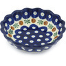 5-inch Stoneware Scalloped Fluted Bowl - Polmedia Polish Pottery H9080G