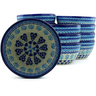 5-inch Stoneware Set of 12 Bowls - Polmedia Polish Pottery H5272J
