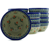 5-inch Stoneware Set of 12 Bowls - Polmedia Polish Pottery H5273J