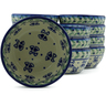 5-inch Stoneware Set of 12 Bowls - Polmedia Polish Pottery H5274J