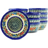 5-inch Stoneware Set of 12 Bowls - Polmedia Polish Pottery H5283J