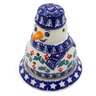 5-inch Stoneware Snowman Candle Holder - Polmedia Polish Pottery H4690J