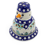 5-inch Stoneware Snowman Candle Holder - Polmedia Polish Pottery H4691J