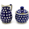 5-inch Stoneware Sugar and Creamer Set - Polmedia Polish Pottery H6169K