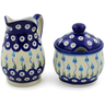 5-inch Stoneware Sugar and Creamer Set - Polmedia Polish Pottery H6170K
