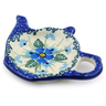 5-inch Stoneware Tea Bag or Lemon Plate - Polmedia Polish Pottery H0833I