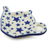 5-inch Stoneware Tea Bag or Lemon Plate - Polmedia Polish Pottery H2144K