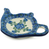 5-inch Stoneware Tea Bag or Lemon Plate - Polmedia Polish Pottery H4968B