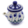 5 oz Stoneware Creamer with Lid - Polmedia Polish Pottery H2855J