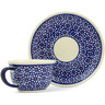 5 oz Stoneware Cup with Saucer - Polmedia Polish Pottery H0600A